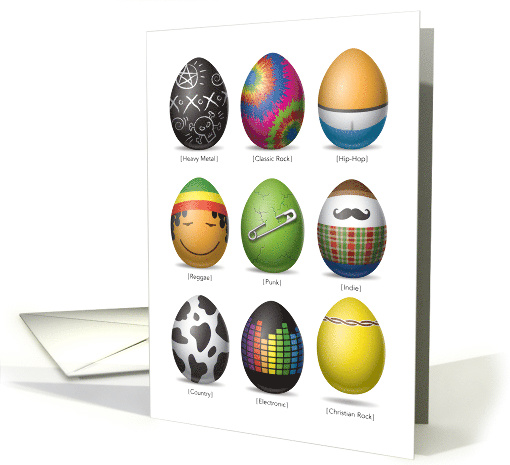 Easter Eggs Rock and Roll card (1471332)