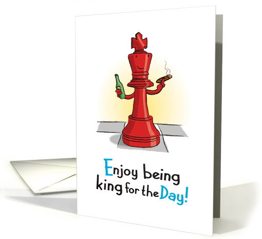 King for the Day, Chess Piece, Father's Day card (1472676)