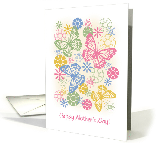 Mother's Day Flowers and Butterflies card (1474084)