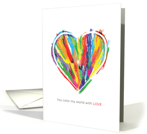Colorful Heart Valentine's Day Love card (1508494)
