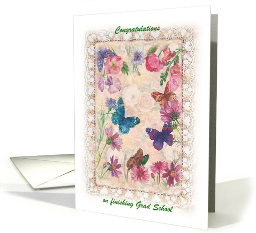 Congratulations Mom Masters Degree Botanical illustration card
