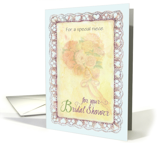 Bridal Shower with Heart Bouquet for Niece card (1560210)