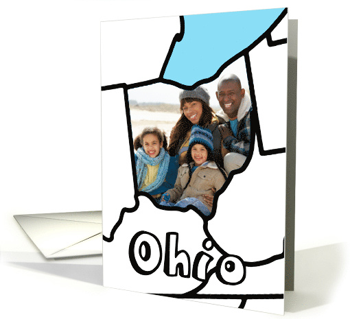 Moved to Ohio Announcement, Custom Photo in the Shape of... (1109204)