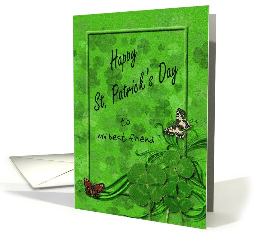 St. Patrick's Customized Green Card for friend card (1015523)