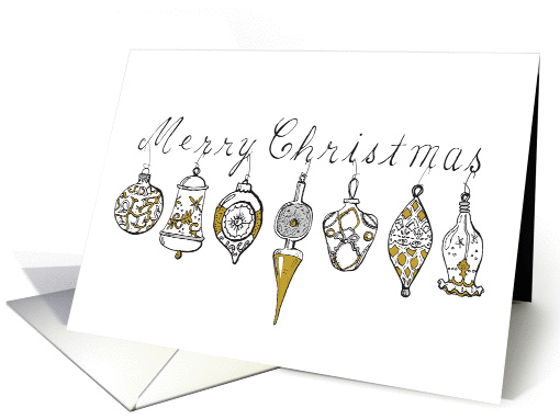 Vintage Ornaments card (997169)