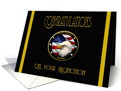 Military Congratulations Army Promotion - Flag & Eagle card (1034441)