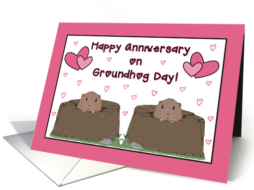 To Couple-Happy Anniversary on Groundhog Day-February card (1224896)