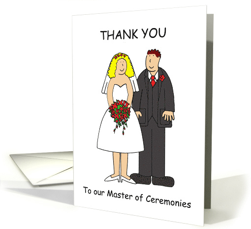 Thank You for Being our Master of Ceremonies, Cartoon Couple. card