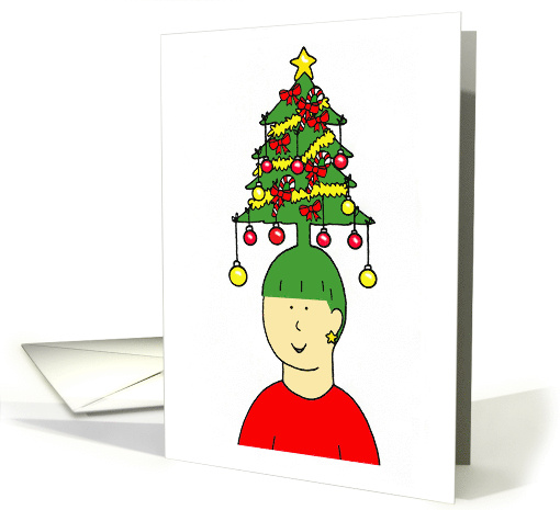 Happy Christmas to my Hairdresser, Humorous Tree Hairstyle. card