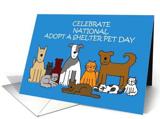 National Adopt a Shelter Pet Day, Cartoon Cats and Dogs,... (1582946)