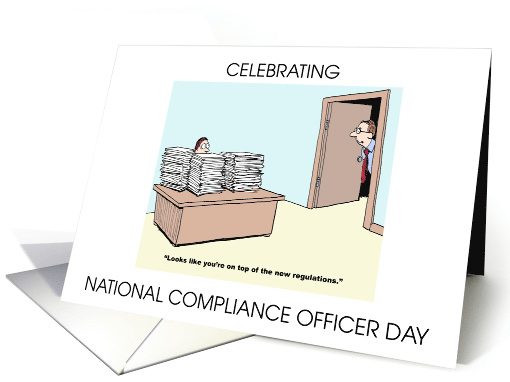 National Compliance Officer Day September 26th card (1543680)