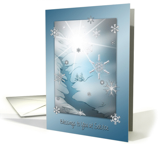 Blessings to You on Winter Solstice card (1186290)