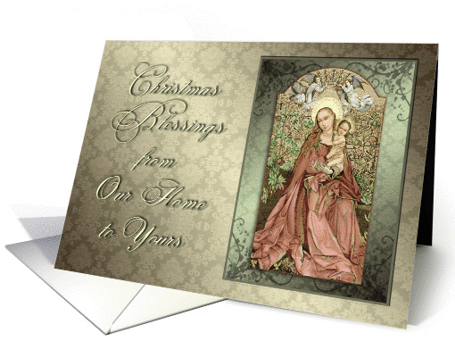 Vintage Mother and Child Christmas Blessings from Our... (1299928)