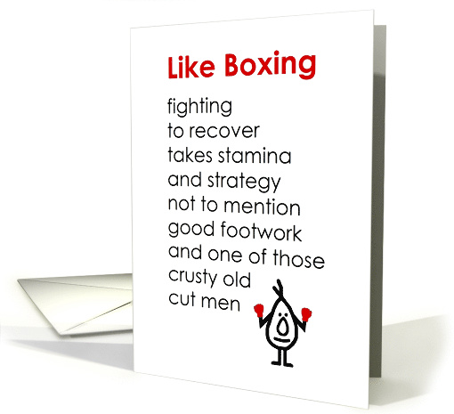 Like Boxing – A Funny Recovery From Knee Surgery Poem card (1538186)