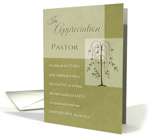 Pastor In Appreciation for your Ministry card (1171326)