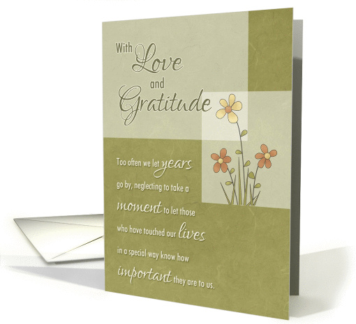 Friend - Love & Gratitude through the years card (1238120)