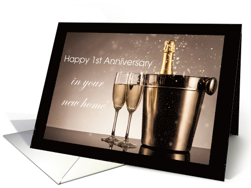 1st Anniversary in New Home from Realtor card (1507700)