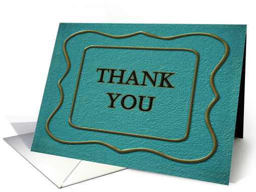 Thank You for Your Business blue with frame card (1059855)