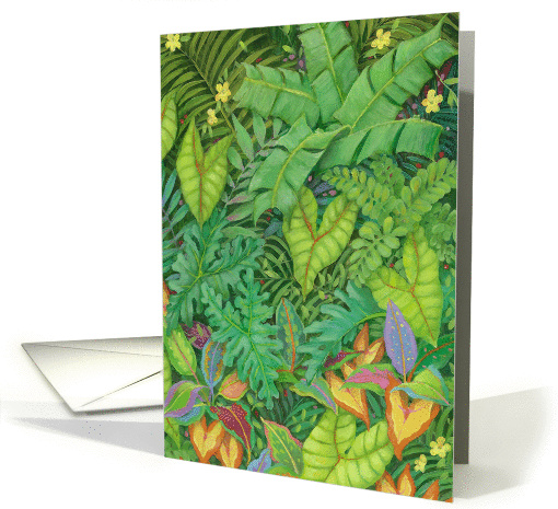 Jungle Foliage with Frogs Blank card (1099588)