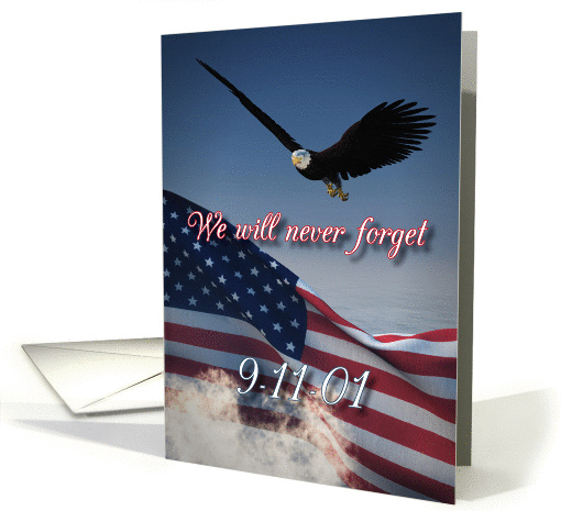 We Will Never Forget September 11 Patriot Day card (1395270)