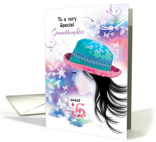 Granddaughter, 16th Birthday, - Girl in Hat with... (1264098)