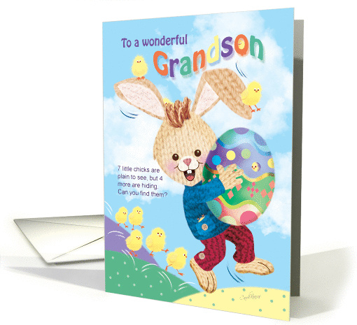 Grandson, Find The Hidden Chicks For Easter Bunny, Activity card