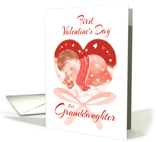 1st Valentine's Day, Granddaughter-Heart with Cute Baby... (1354294)