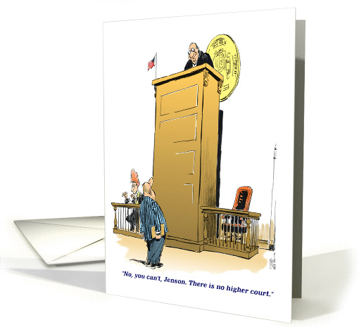 Funny birthday to someone in the legal profession cartoon card