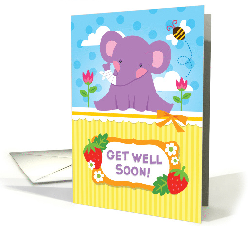 Get Well Soon – cute elephant card (1425968)