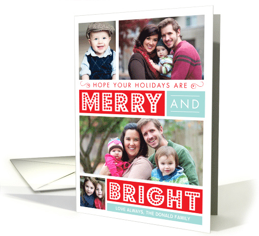 Bold Merry & Bright Holiday Photo card (1201066)