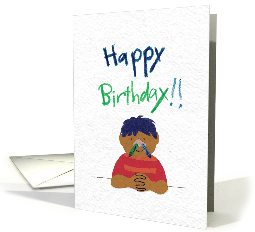 Crayons Up the Nose for Funny Birthday card (1353562)