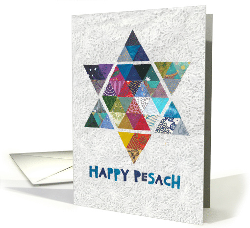 Passover Star of David in Colorful Mosaic card (1513728)