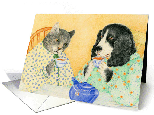 Dog and Cat Best Friends card (1244152)