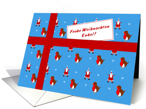 Frohe Weihnachten - For Grandson German language Christmas parcel card