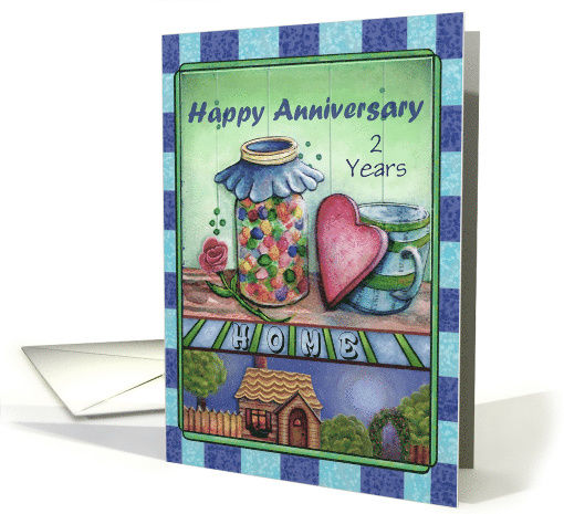 Happy Anniversary on the Birthday of your New House Custom Year card