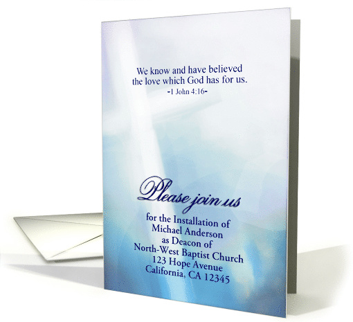 Customizable Deacon Installation Invitation, Religious, 1... (1476318)