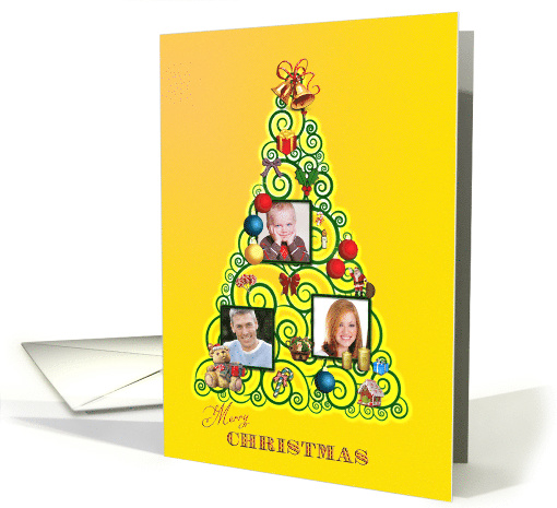 Add your pictures, Christmas tree card (1347438)