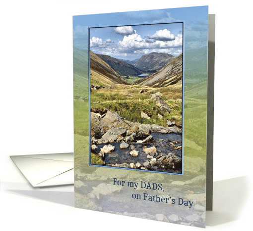 Dads, on Father's Day, Mountain Landscape card (1555026)