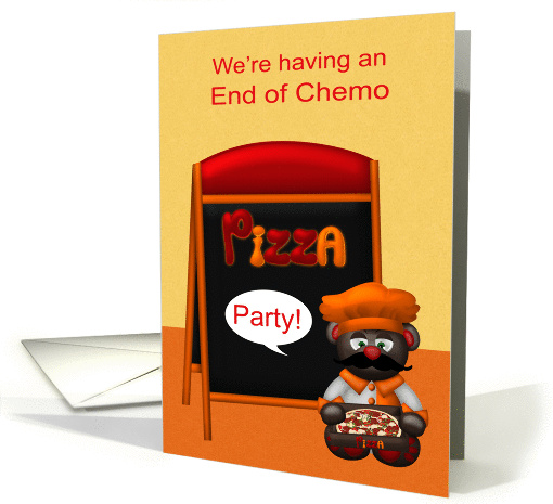 Invitations to End of Chemo Pizza Party, general, cute... (1397980)