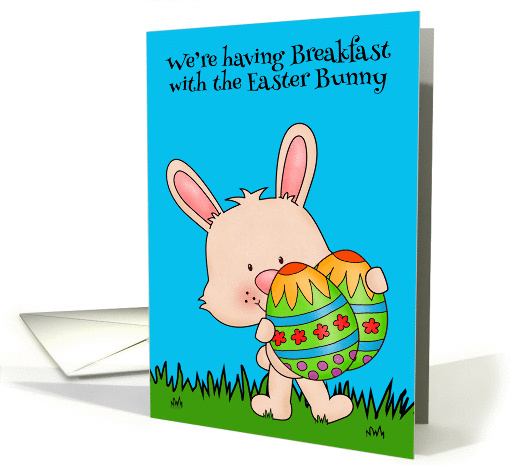 Invitations, Breakfast with the Easter Bunny, cute bunny... (1427242)