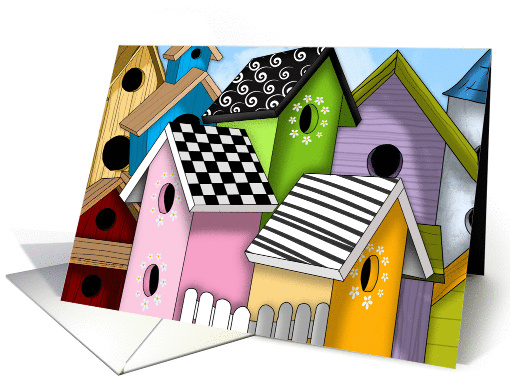 New Family Birdhouse Welcome card (1388062)