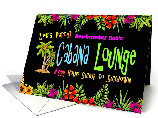 Let's Party Down at the Cabana Lounge card (1388362)