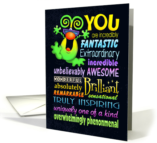 You are Positively Extraordinary card (1475126)