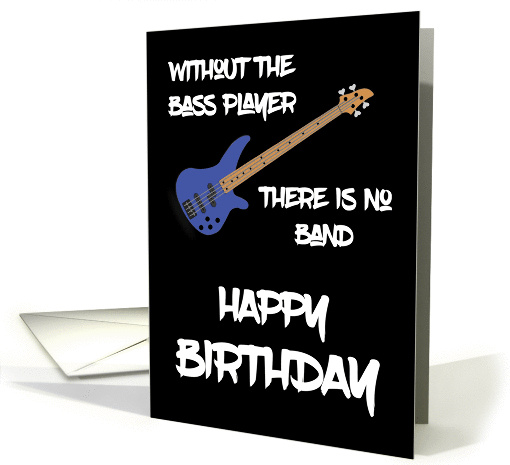 Bass Guitar Happy Birthday card (1452146)