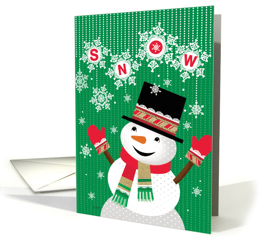 Happy Holidays Snowman Welcoming Snow card (1541784)