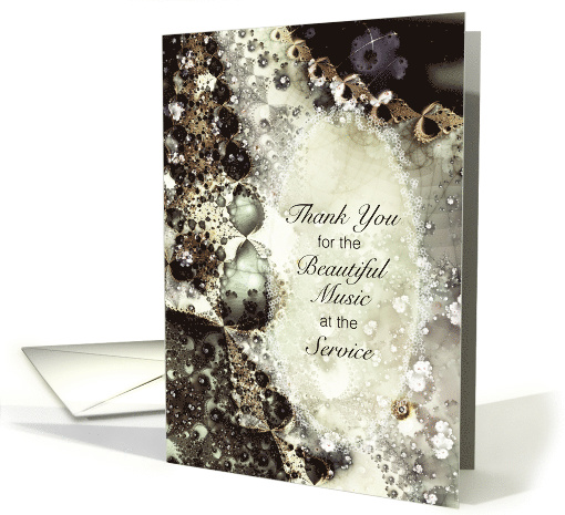 Thank You, For the Music, Pearls and Lace, Soft Lacy Fractal card