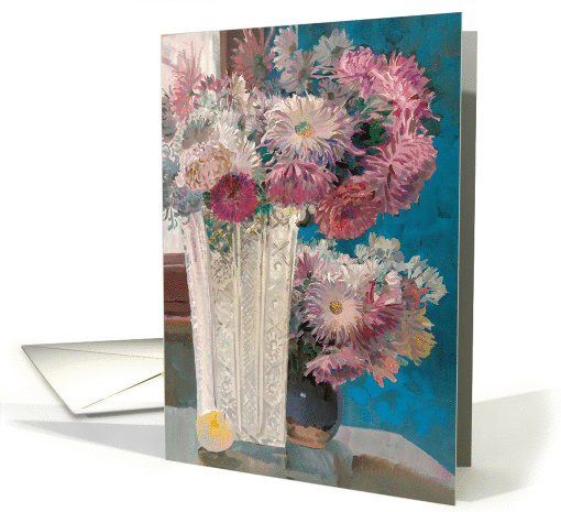 Pink and White Chrysanthemum Flowers for Birthday card (1462840)