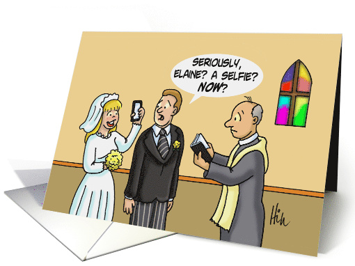 Cartoon Wedding . The Bride Is Taking a Selfie to the... (1473110)