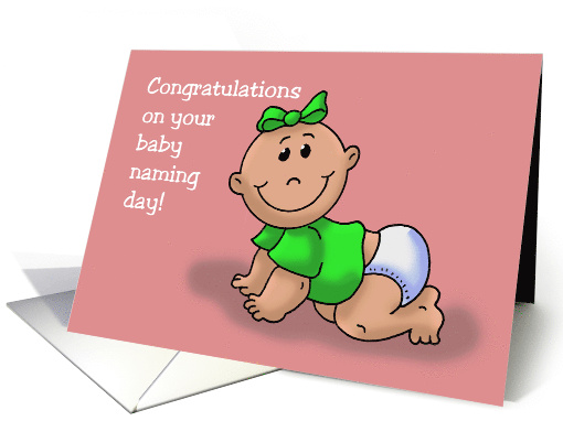 Congratulations on Baby Naming Ceremony Girl Baby card (1479074)