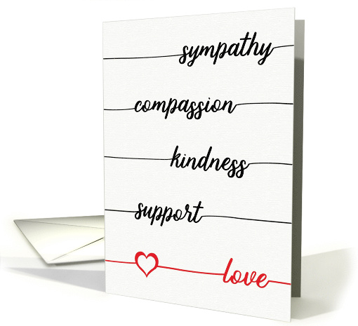 Sympathy, Compassion, Kindness, Support, Love-Your Gifts Mattered card